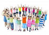 stock photo of little boys only  - Group of Children Celebrating - JPG