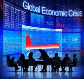 Global Economic Crisis with Business Meeting