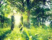 Environmentalist Businessmen Shaking Hands in Green Park