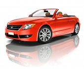 Red Convertible 3D Car