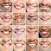 Portraits od Variation of Multi-ethnic Smiles