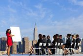 Business Presentation at New York City Rooftop