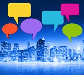 New York City Communication with Speech Bubbles
