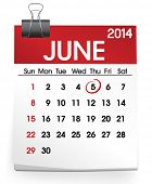 Vector of Calendar: June 2014