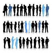 Vector of Interactive Business People