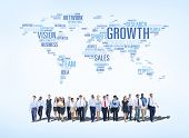 Business People With Global Growth