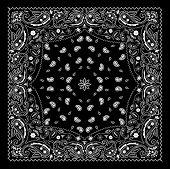 Black Paisley Bandana