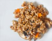 Lenten Dish - Buckwheat With Mushrooms