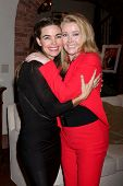 LOS ANGELES - MAR 25:  Amelia Heinle, Melody Thomas Scott at the Young and Restless 41st Anniversary