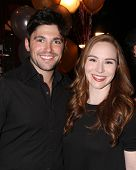LOS ANGELES - MAR 25:  Robert Adamson, Camryn Grimes at the Young and Restless 41st Anniversary Cake