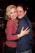LOS ANGELES - MAR 25:  Jessica Collins, Christian LeBlanc at the Young and Restless 41st Anniversary