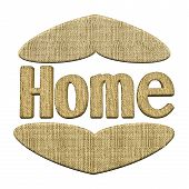 Home Word Ornament