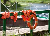 Lifebuoy at the mooring