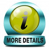 learn more details or information sign button or icon