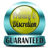 private and personal information icon, banner for privacy protection and discretion of restricted in