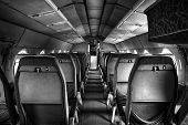 foto of outdated  - an old outdated passenger air inside detail - JPG