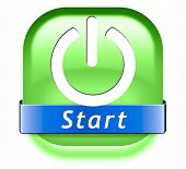 start button play video movie or game