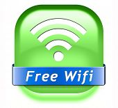 free wifi area and internet access icon or button