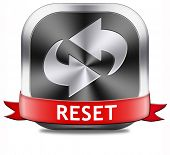 Reset button start again or refresh icon refresh or redo sign