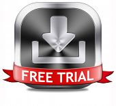 free trial promotion product test sample. Sign icon or label for advertising new items.