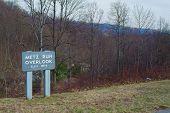 Metz Run Overlook on the Blue Ridge Parkway