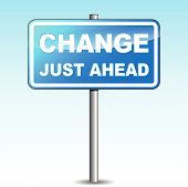 Vector Blue Change Signpost