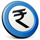 Vector 3D Rupee Icon