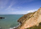 stock photo of sark  - Coastal scene on Sark looking out over the English Channel - JPG