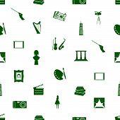 art icons pattern seamless eps10