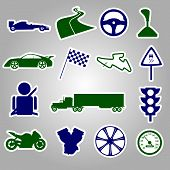automotive stickers collection eps10