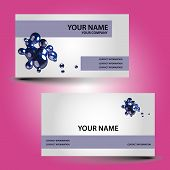 business card abstract bubbles eps10