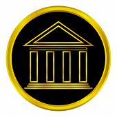 Gold Bank Button