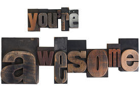 picture of you are awesome  - phrase you - JPG