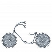 bicycle made of spanners