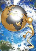 3D Globe Concept Earth Mover