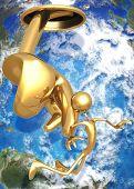 3D Globe Concept Divine Guidance