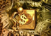 3D Dirty Money Laundering Concept