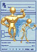 3D Medical Concept Eldery Fitness