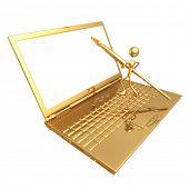 Digital Artist Laptop Frame