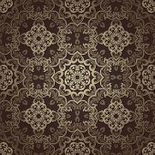 Seamless wallpaper. Islamic motif background.