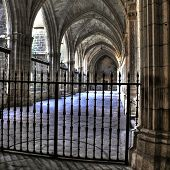 Cloister Of The Cathedral Of Santa Maria, Toledo (spain)