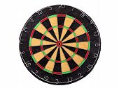 An Empty Dartboard Isolated Over A White Background