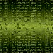 Green security background with HEX-code