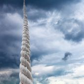 Rope Rises To Sky With Storm Clouds