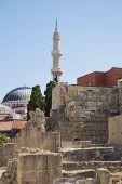 Minaret in Rhodes city