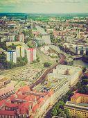 Retro Look Berlin Aerial View