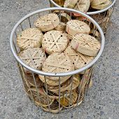 A Platter-like Basketwork Used For Packaging Fish, Especially Mackerel For Sale, Each Containing Two