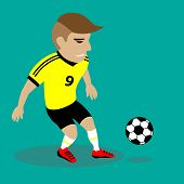 Vector Illustration Soccer Player
