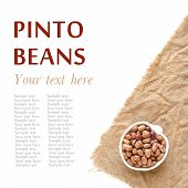 Raw Pinto Beans In A Bowl