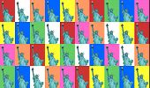 Lady Liberty Color Collage